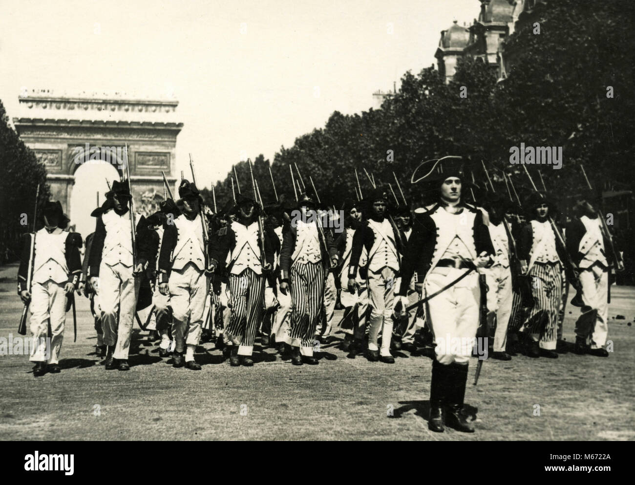 The French soldiers of Revolution, Paris, France 1930s - Stock Image