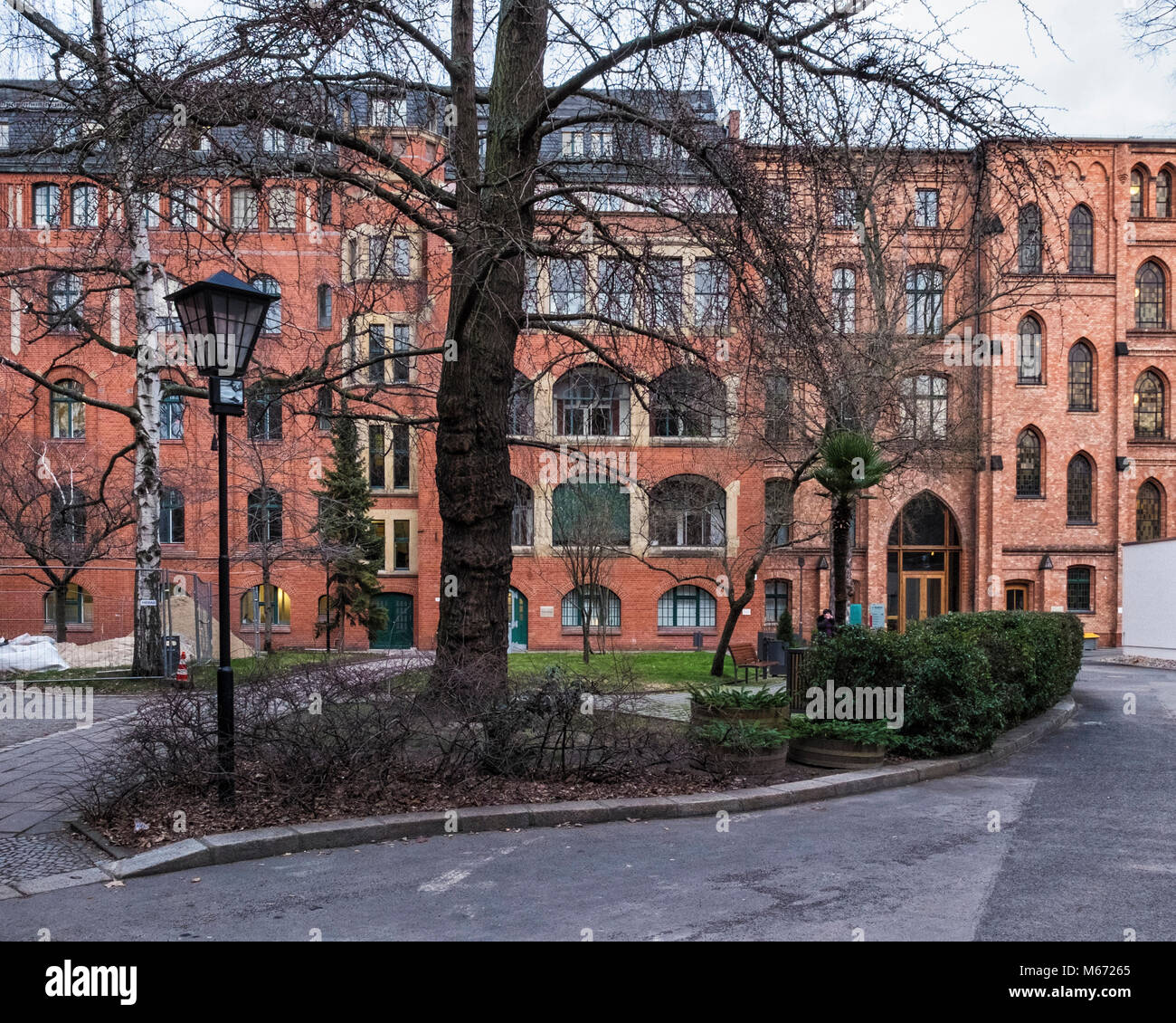 Berlin, Mitte, St Hedwigs Hospital. Three wings of Front Building, Southern wing,Joseph Haus & Elizabeth House - Stock Image
