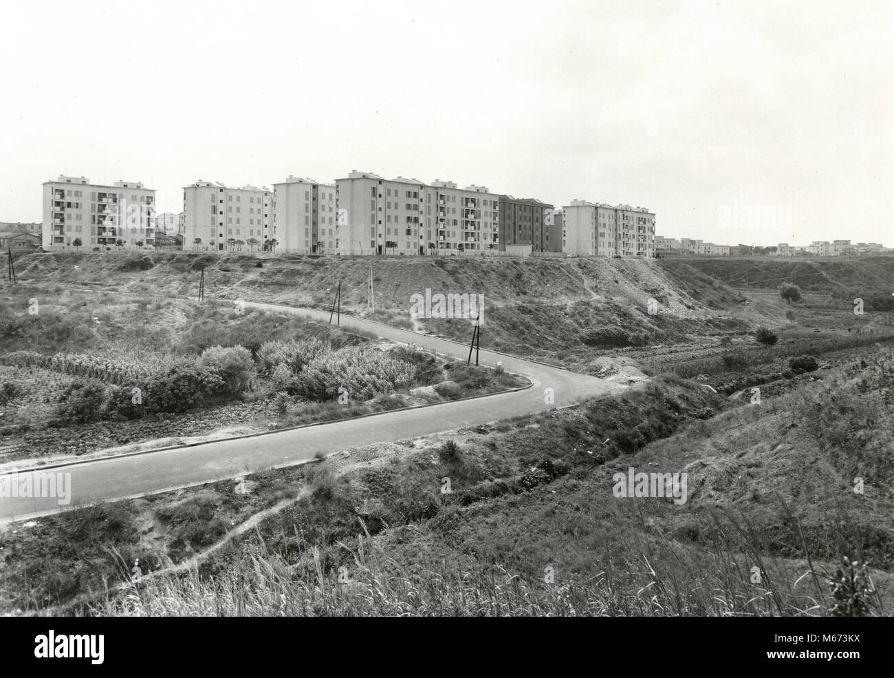 Primavalle Project buildings just completed, Rome, Italy 1950 - Stock Image