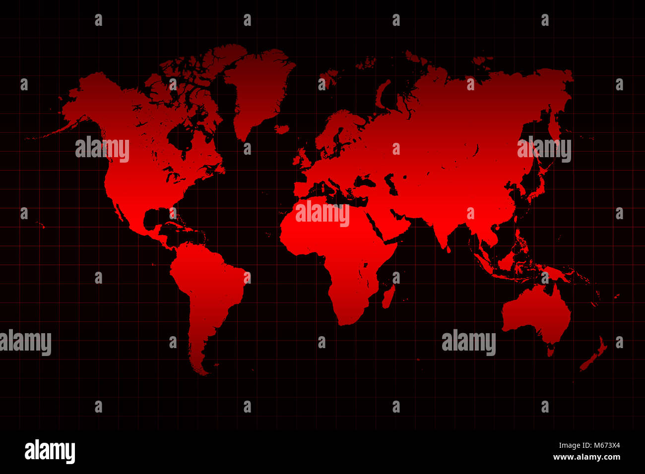 World map and grid line in red and black background stock photo world map and grid line in red and black background gumiabroncs Images