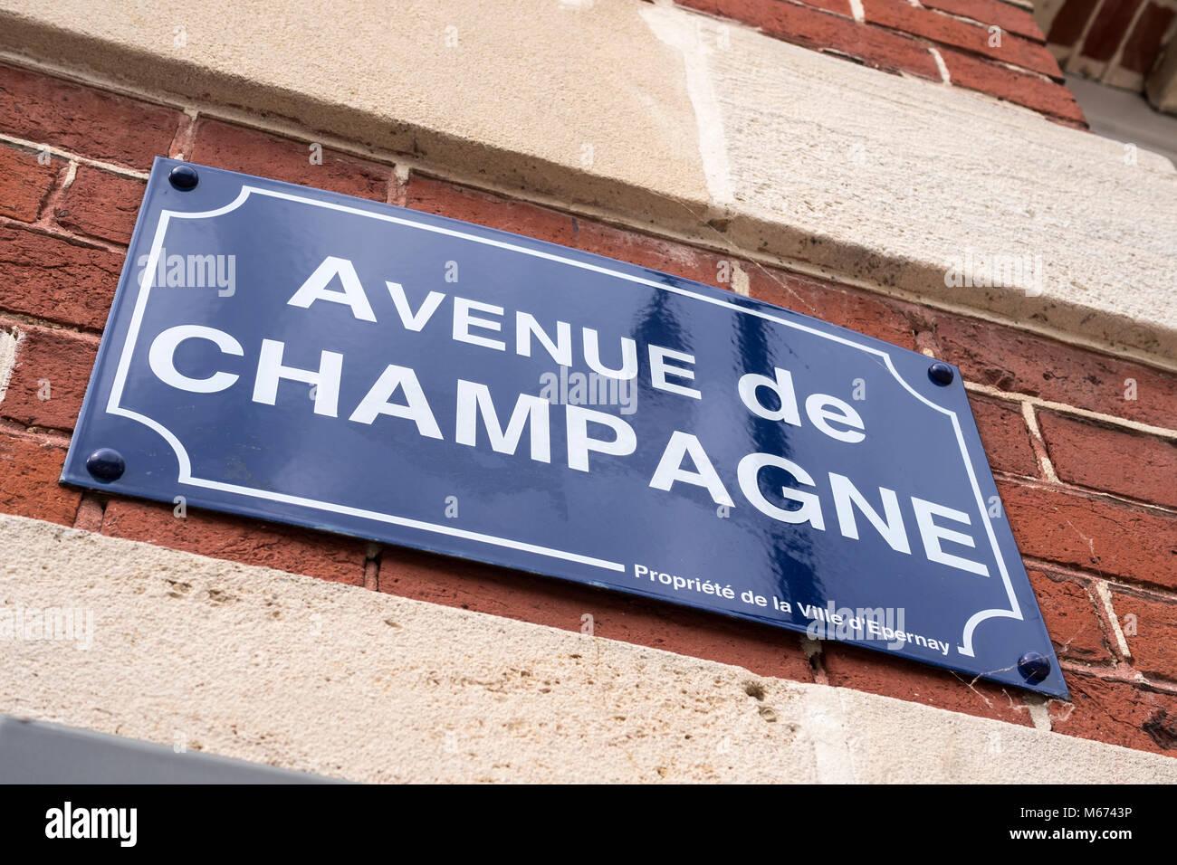 Avenue de Champagne Epernay Marne Grand Est France - Stock Image
