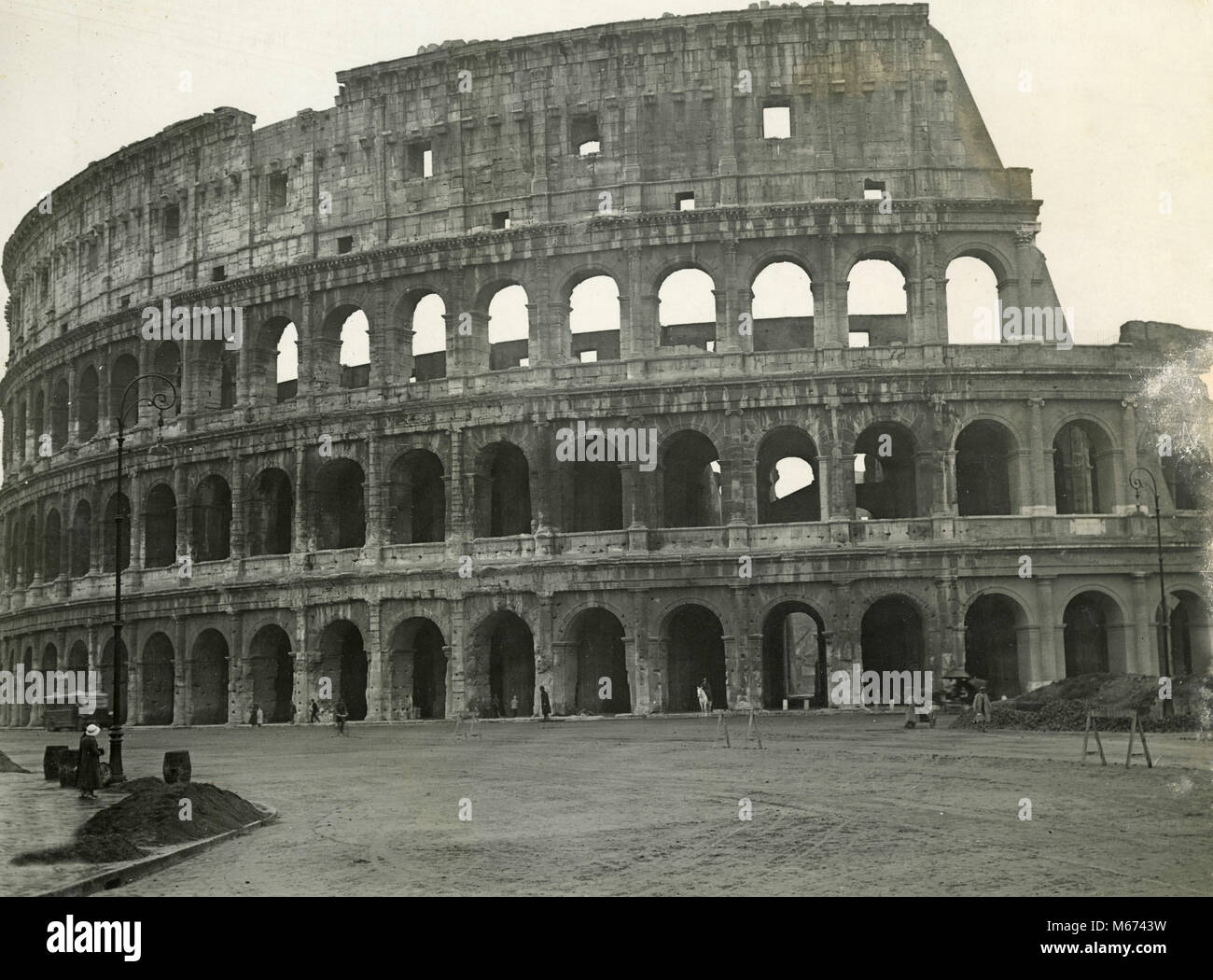 The Colosseum, Rome, Italy 1930s - Stock Image