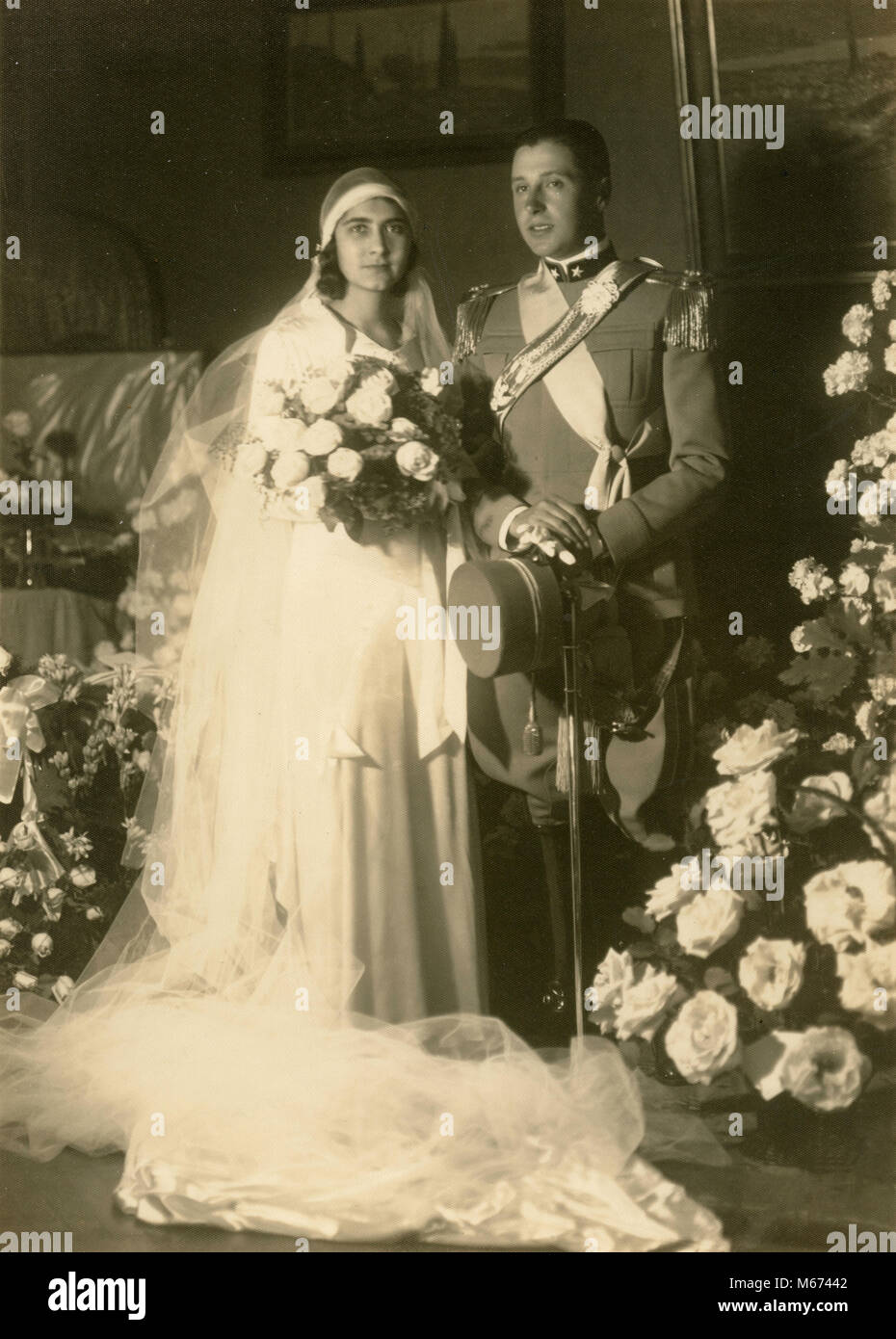 Just married, Italy 1930s - Stock Image