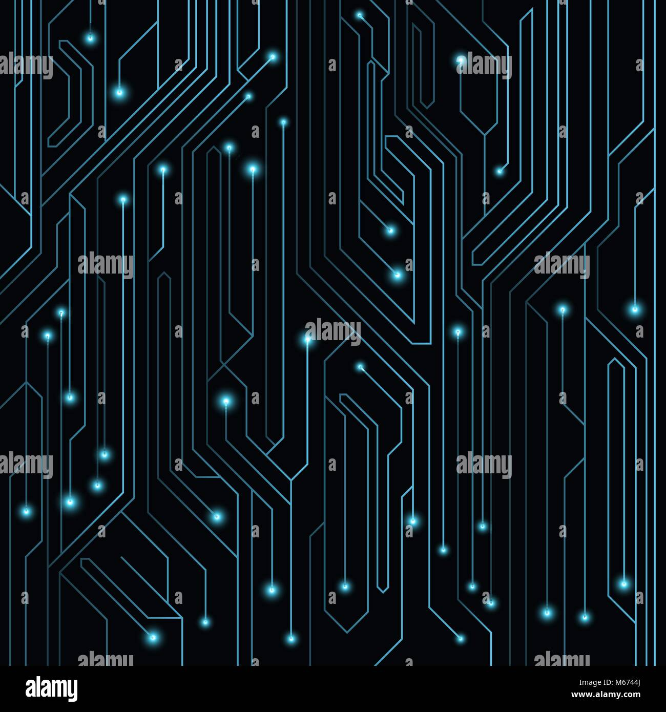 High Tech Background Of Blue Color From A Computer Board With Leds Stock Vector Image Art Alamy