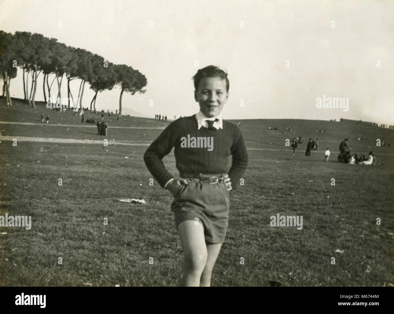 Young boy, Terracina, Italy 1930s - Stock Image