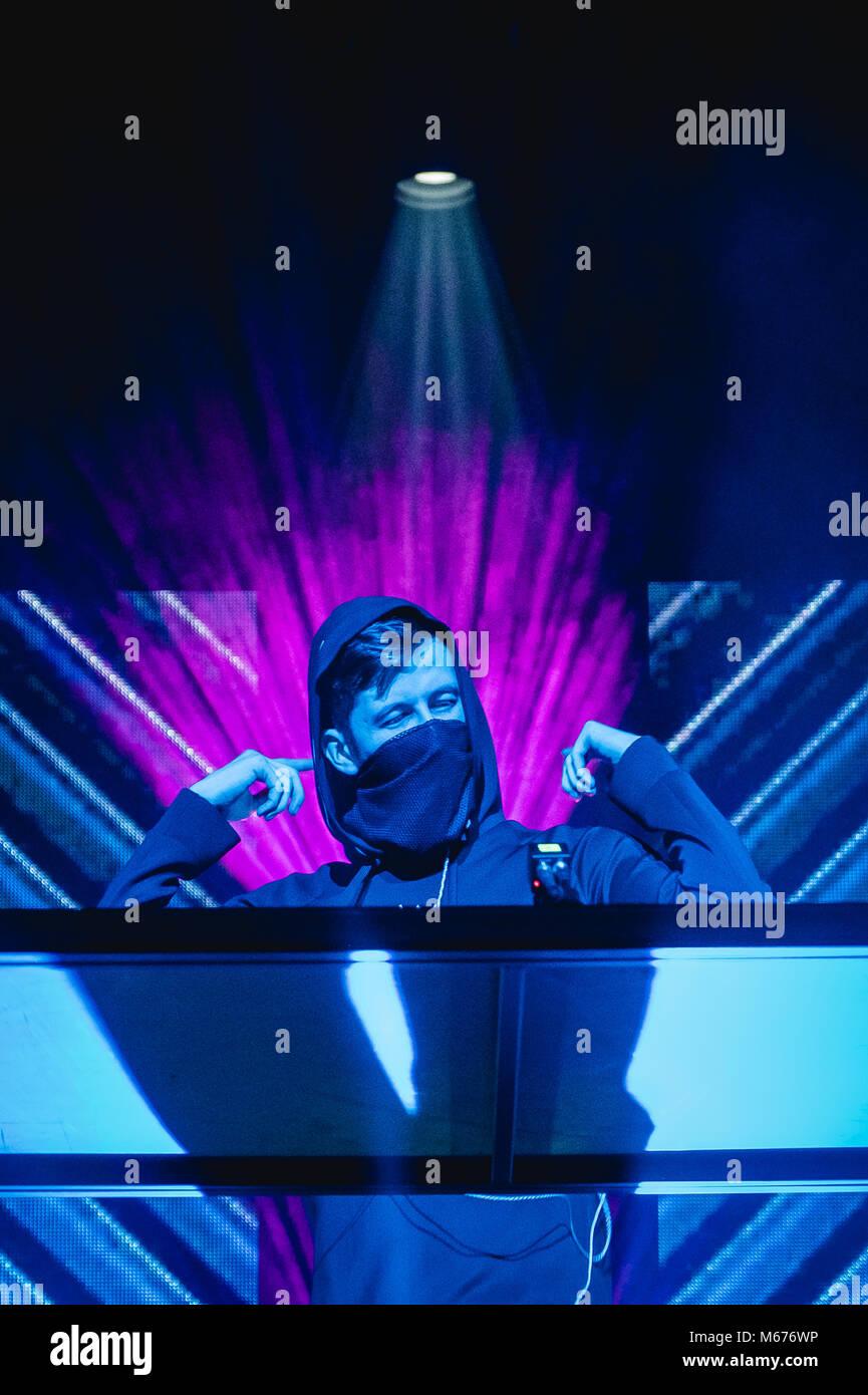 Zürich, Switzerland. 28th Feb, 2018. The Norwegian DJ and record producer  Alan