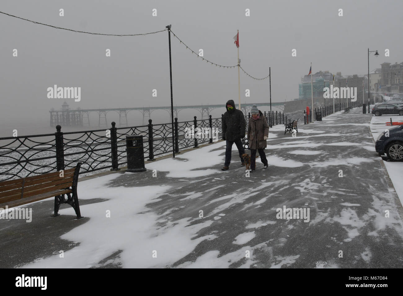 Clevedon Sea Front  1st Mar, 2018  UK Weather: UK Weather