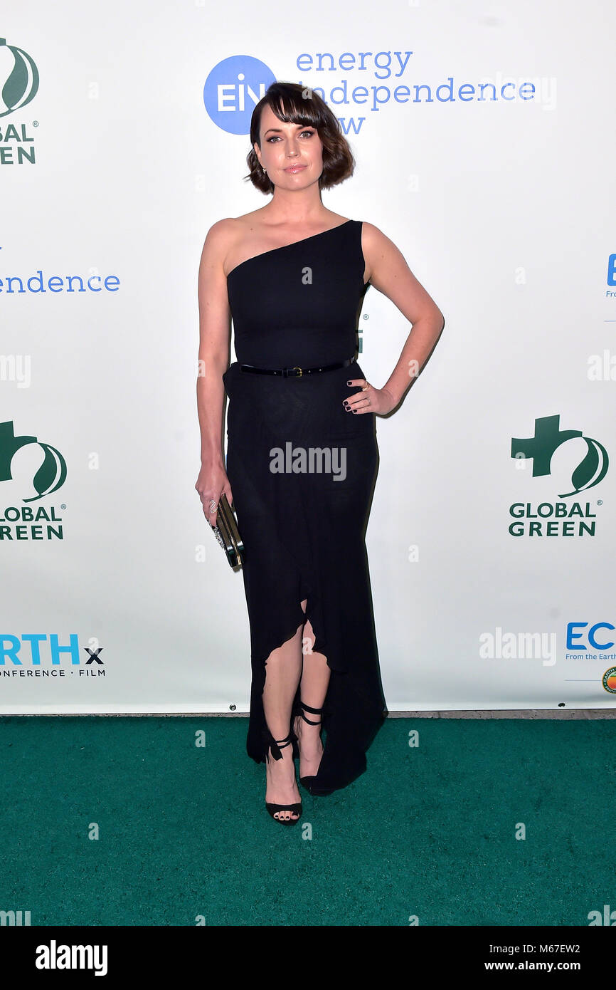 Julie Ann Emery attending the15th annual Global Green pre-Oscar gala at NeueHouse Hollywood on February 28, 2018 - Stock Image