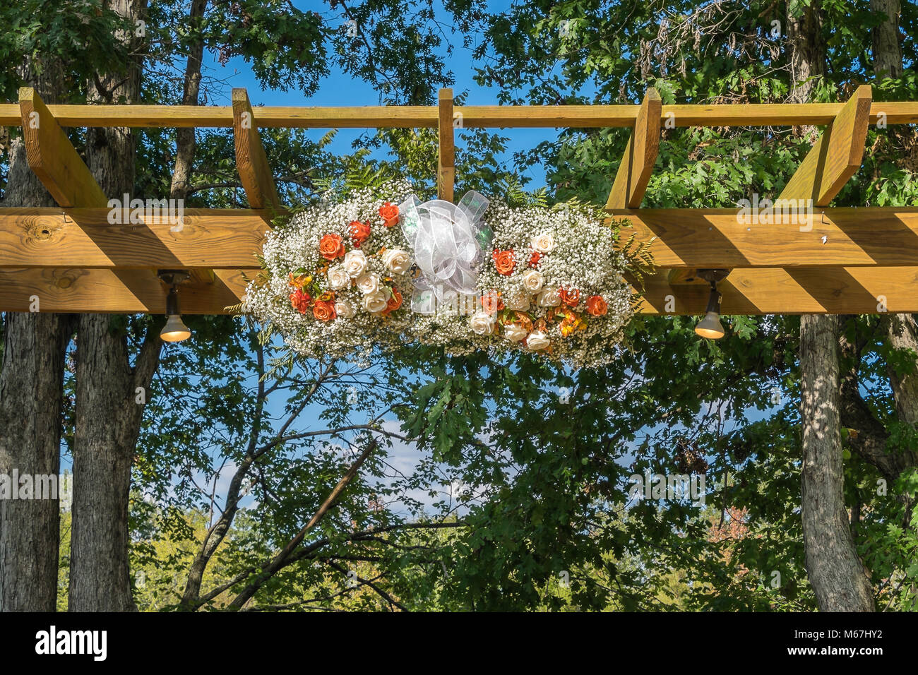 Decorations for the wedding day. - Stock Image