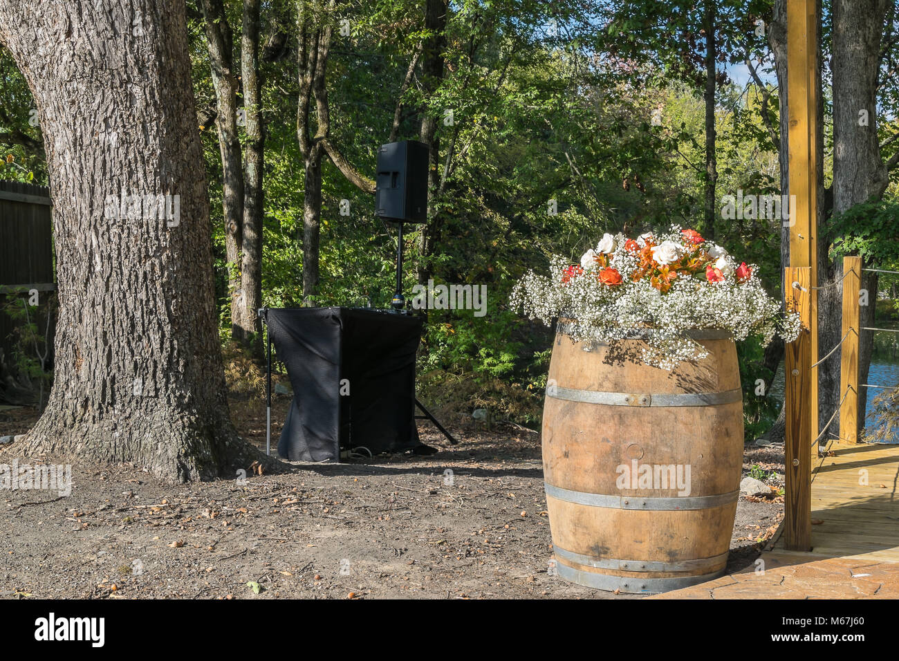 Decorations for the wedding day. Stock Photo