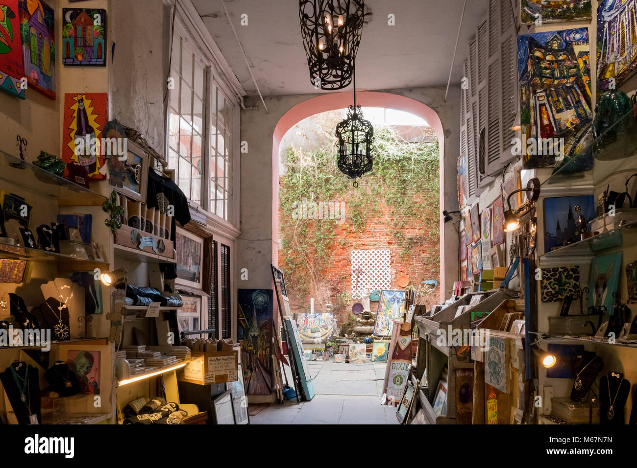 New Orleans, FEB 21: Interior view of an art store on FEB 21,2018 at New Orleans, Louisiana - Stock Image