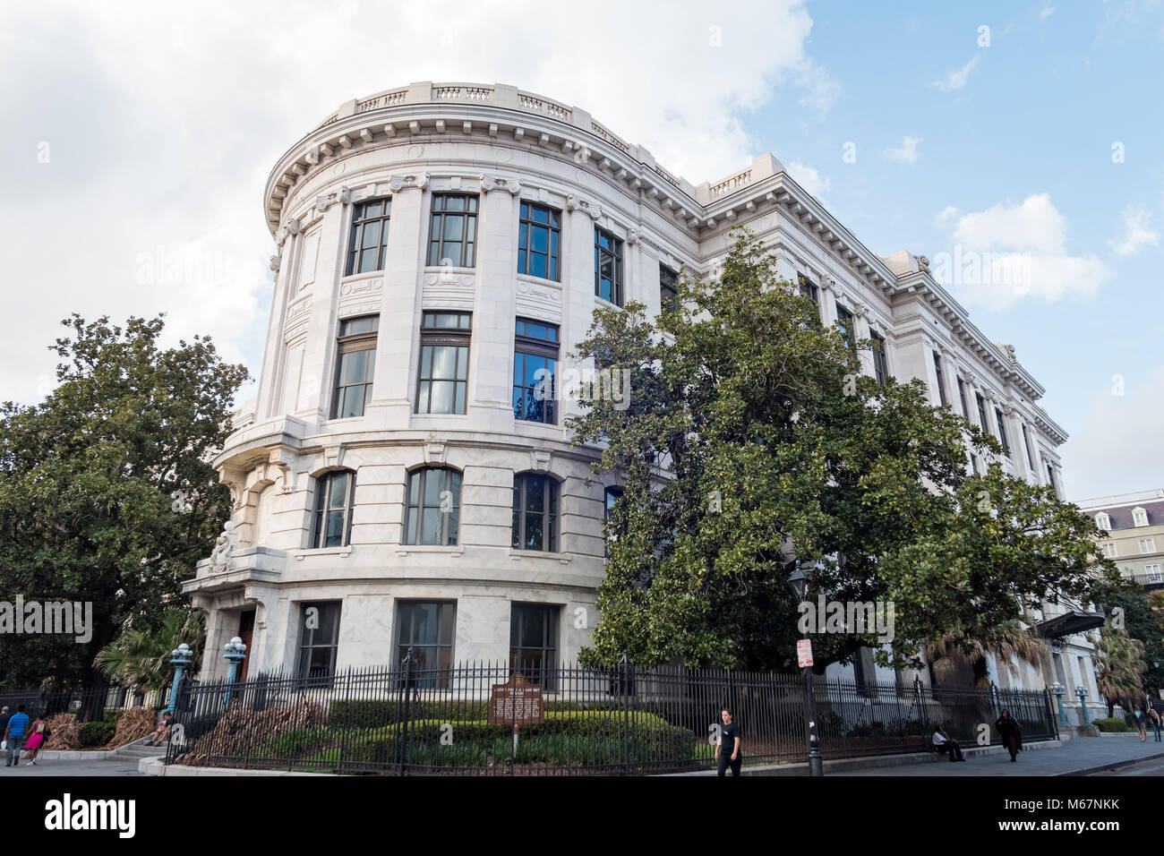 New Orleans, FEB 21: Exterior view of the beautiful and historical Louisiana Supreme Court Clerk on FEB 21,2018 - Stock Image