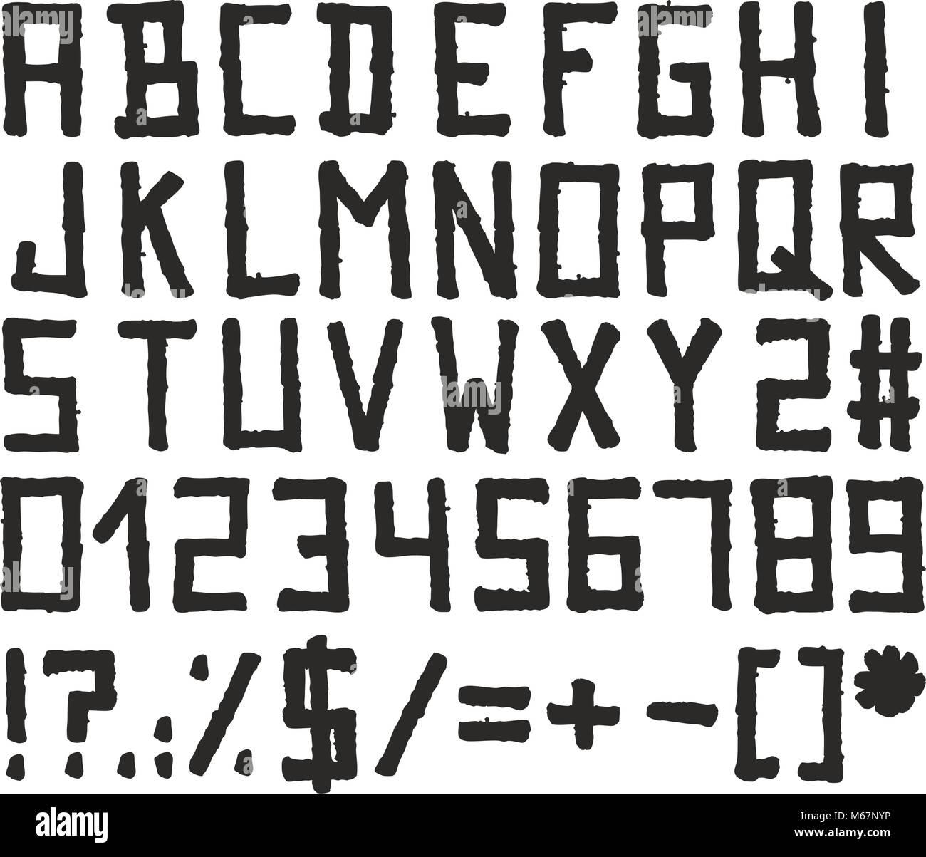 Alphabet Stencil Stock Photos & Alphabet Stencil Stock
