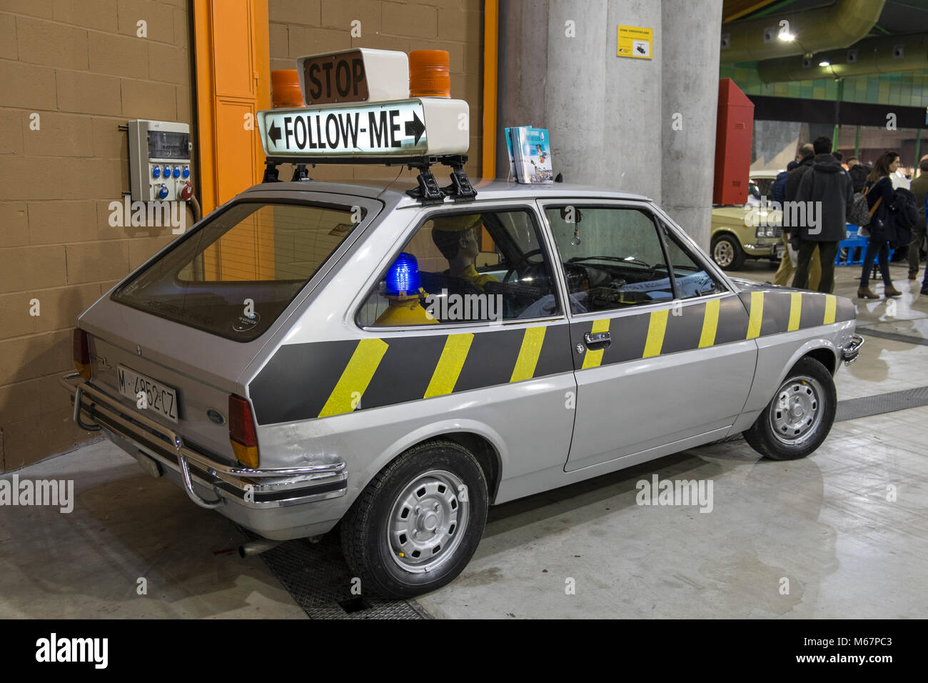 1979 Ford Fiesta L. Retro Málaga 2018. Spain. - Stock Image