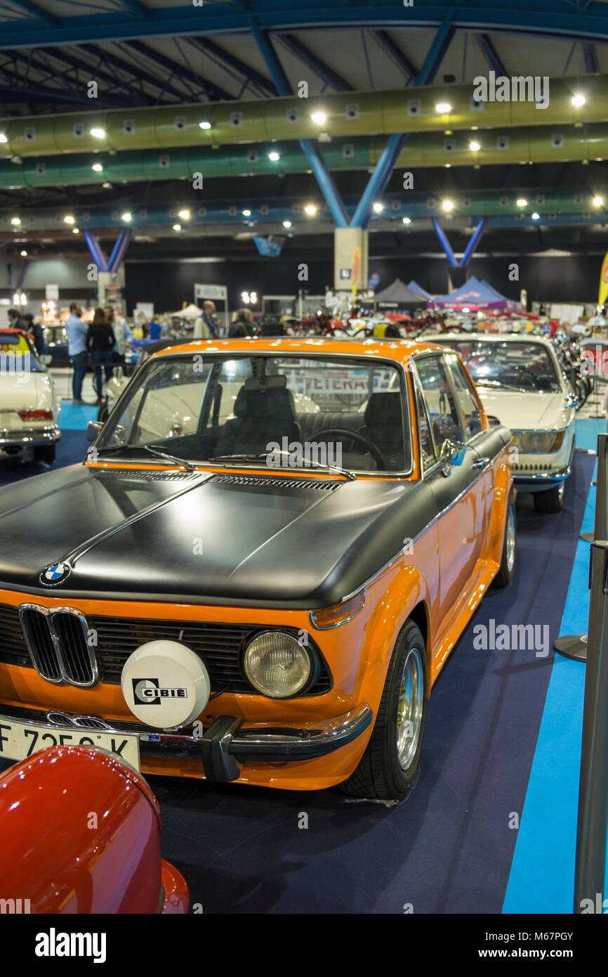BMW 2002. Retro Málaga 2018. Spain. - Stock Image
