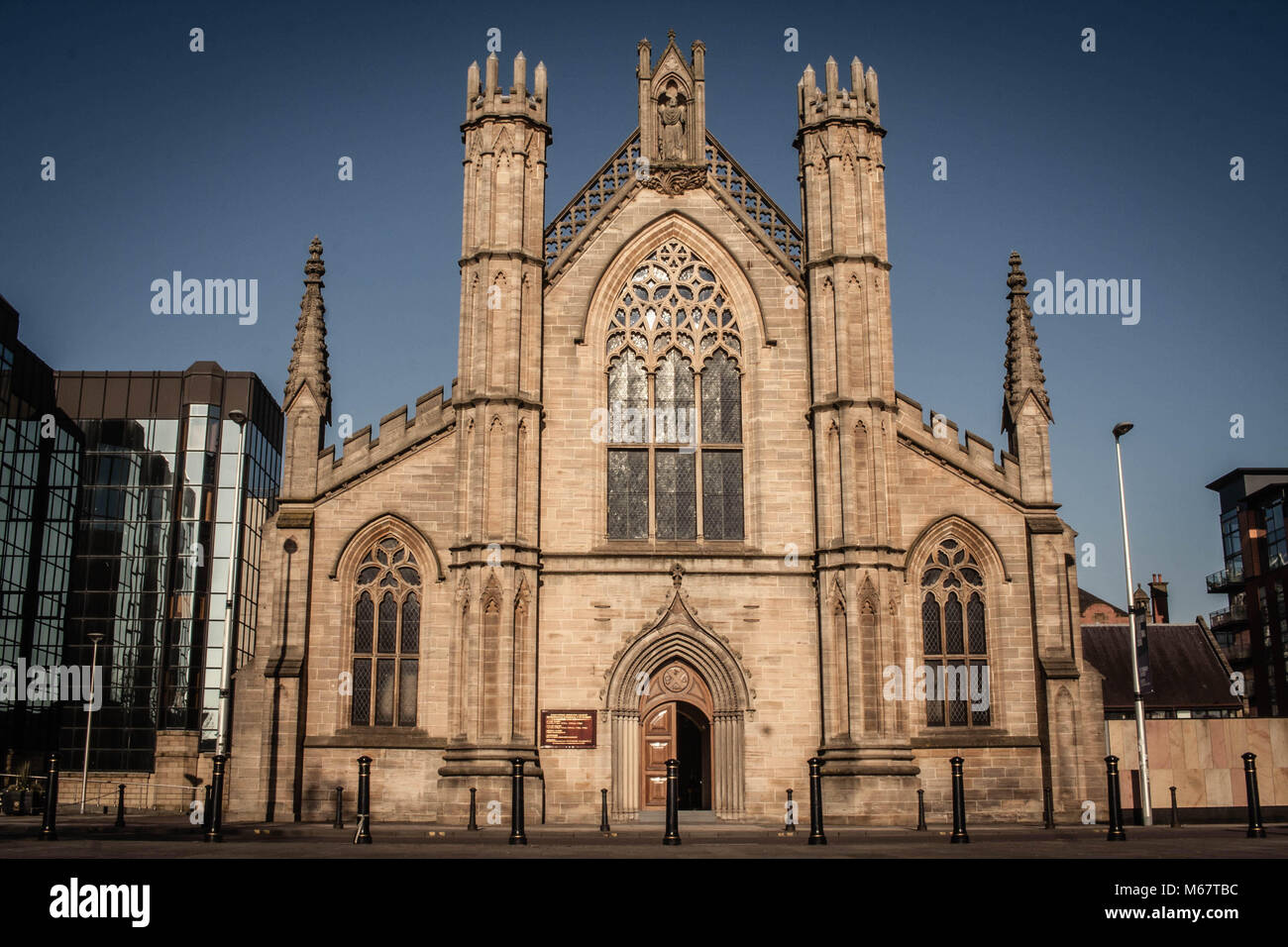 St Andrews Catholic Cathedral, Clyde Street, Glasgow, Scotland. Stock Photo