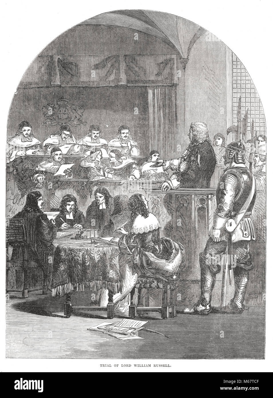 Trial of Lord William Russell, 1683 - Stock Image