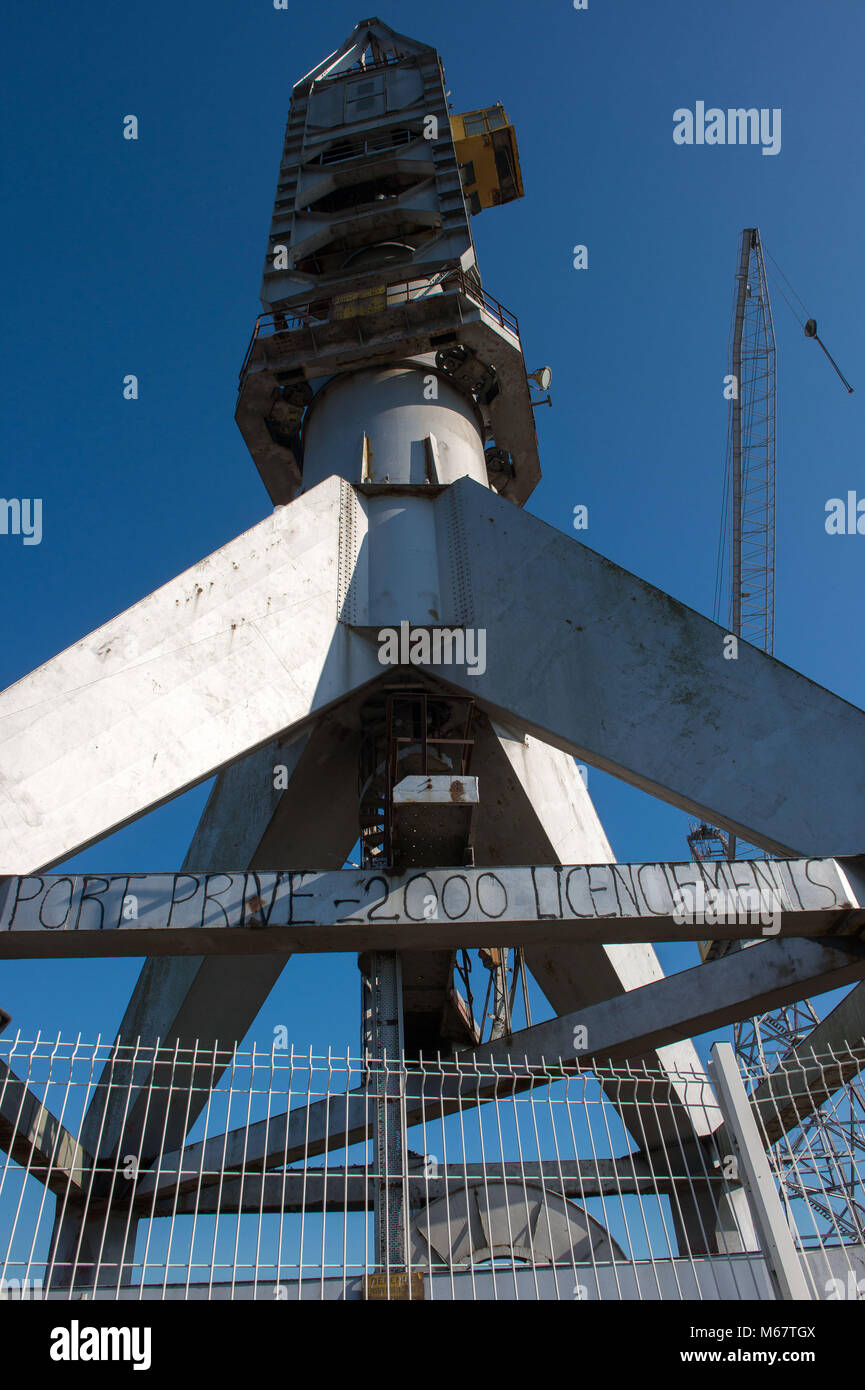 Saint Nazaire, shipyard. France. - Stock Image
