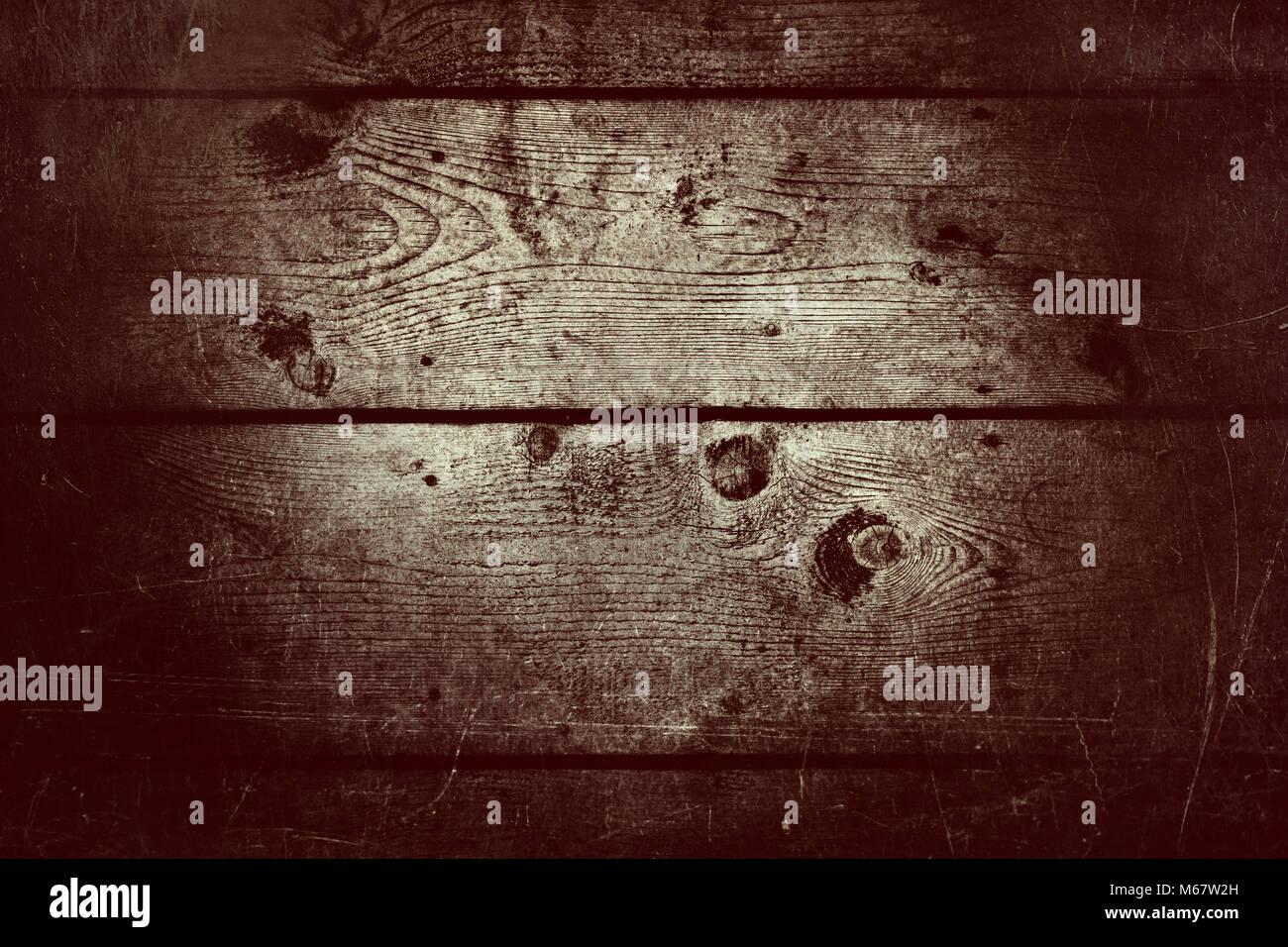 Retro dark wood vintage texture background - Stock Image