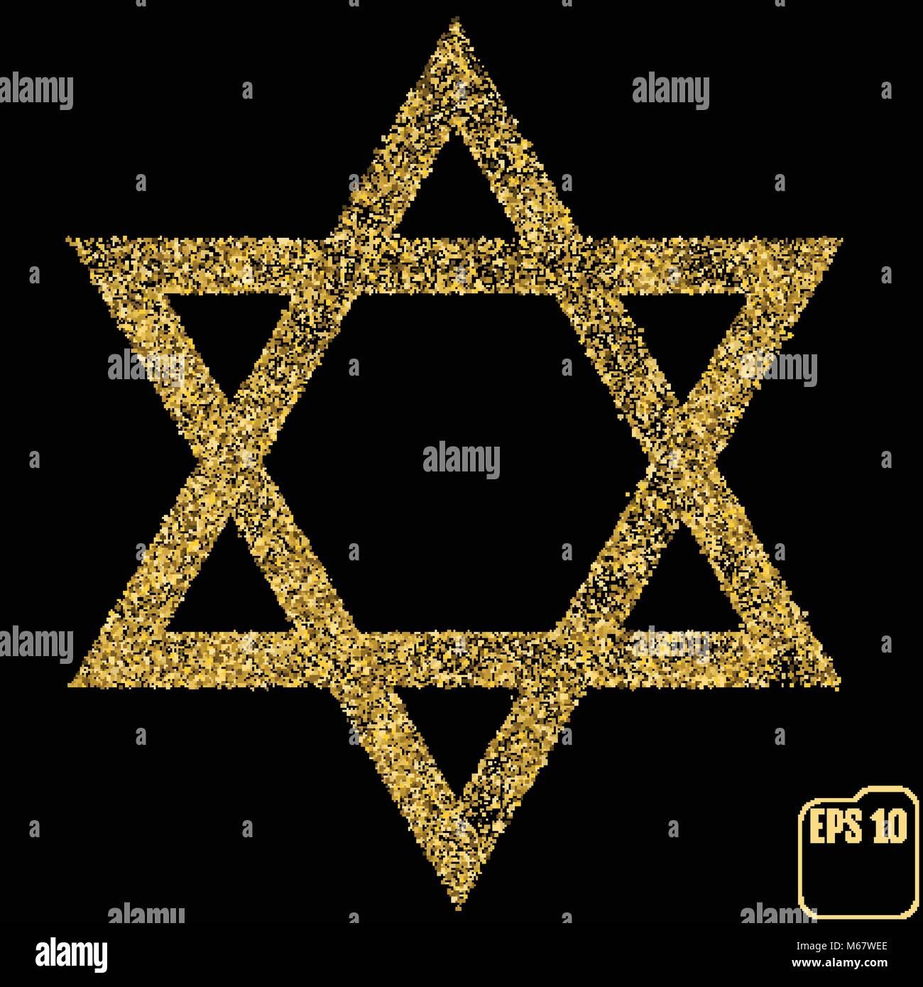 Judaism david, jewish, israel star  Seal of Solomon icon  Vector