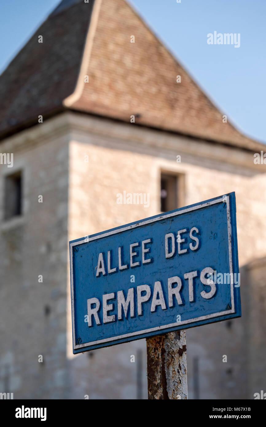 The Remparts Provins Seine-et-Marne Ile-de-France France - Stock Image