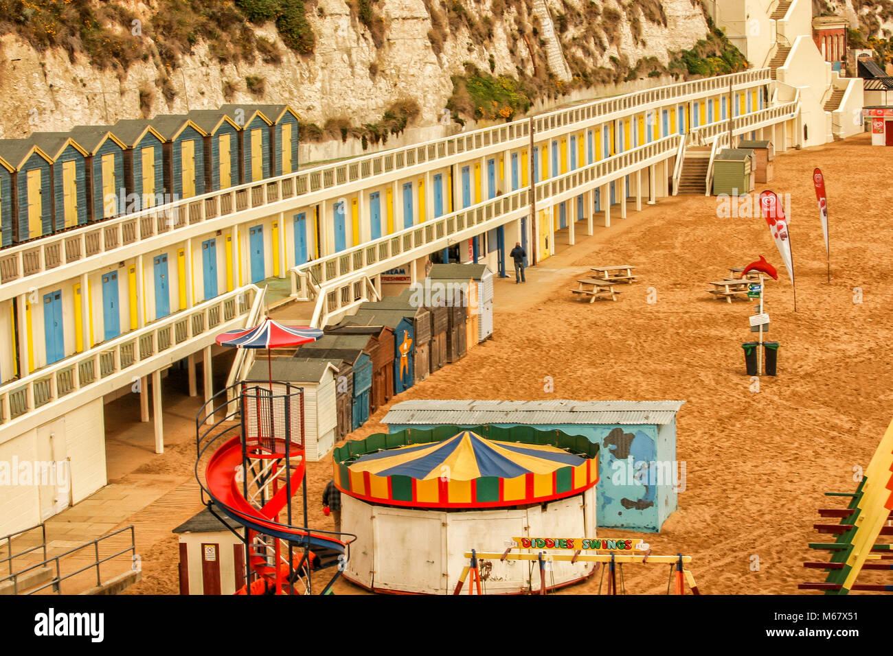 Viking Bay beach, Broadstairs, Kent, England - Stock Image