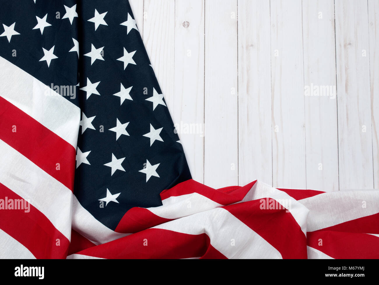USA flag. American flag. American flag on wooden background Stock Photo