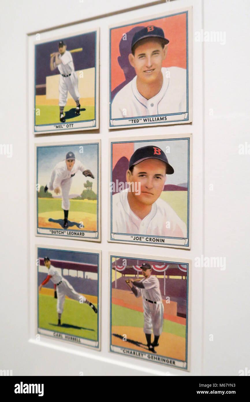 Baseball Cards Metropolitan Museum Of Art Nyc Usa Stock Photo