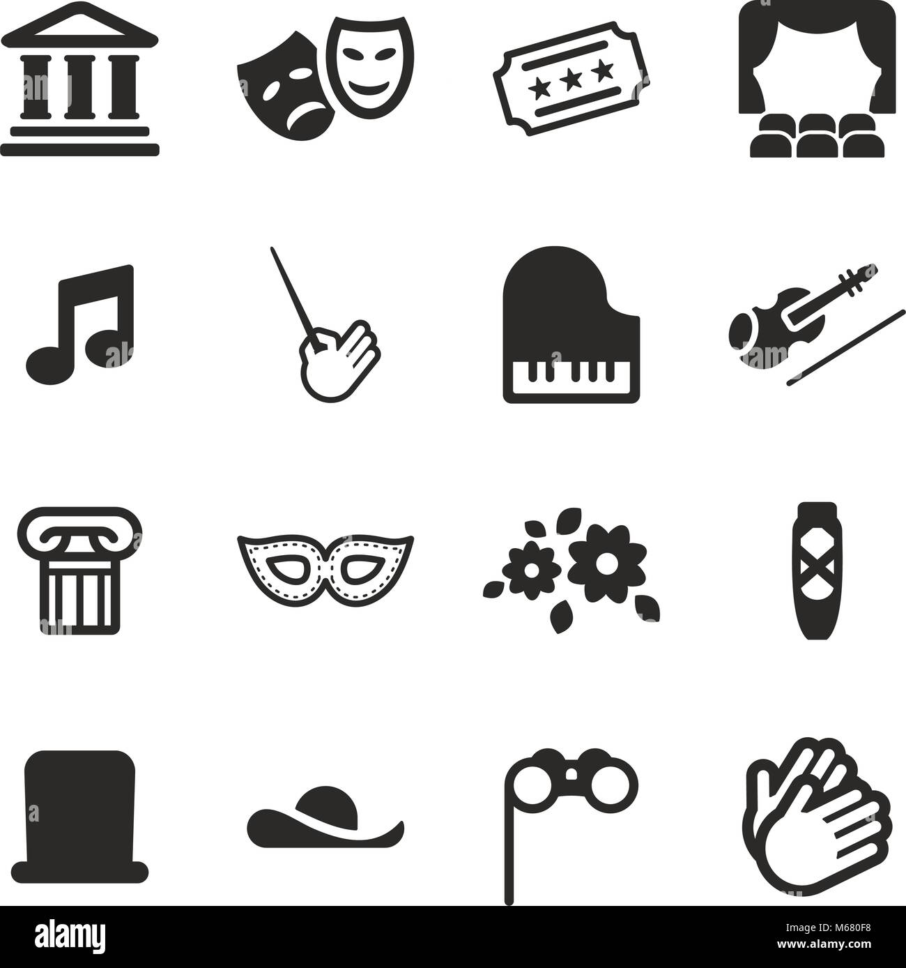 Theater Icons - Stock Image