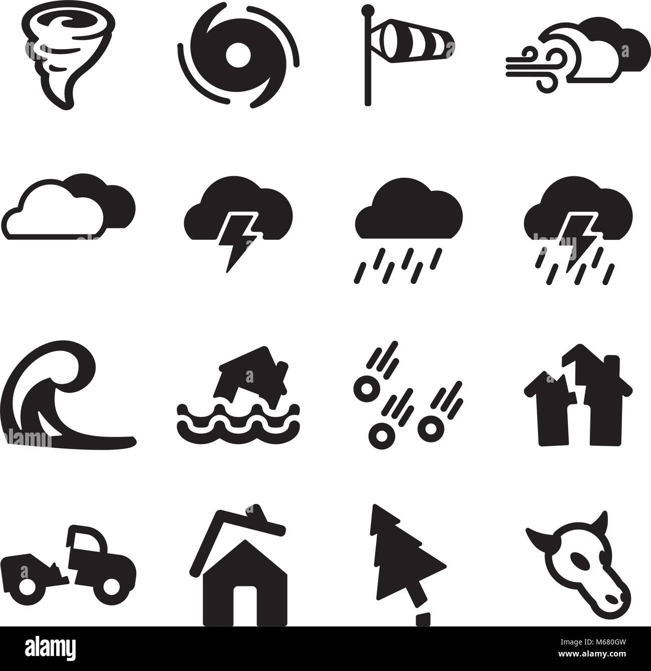 Tornado Icons - Stock Vector