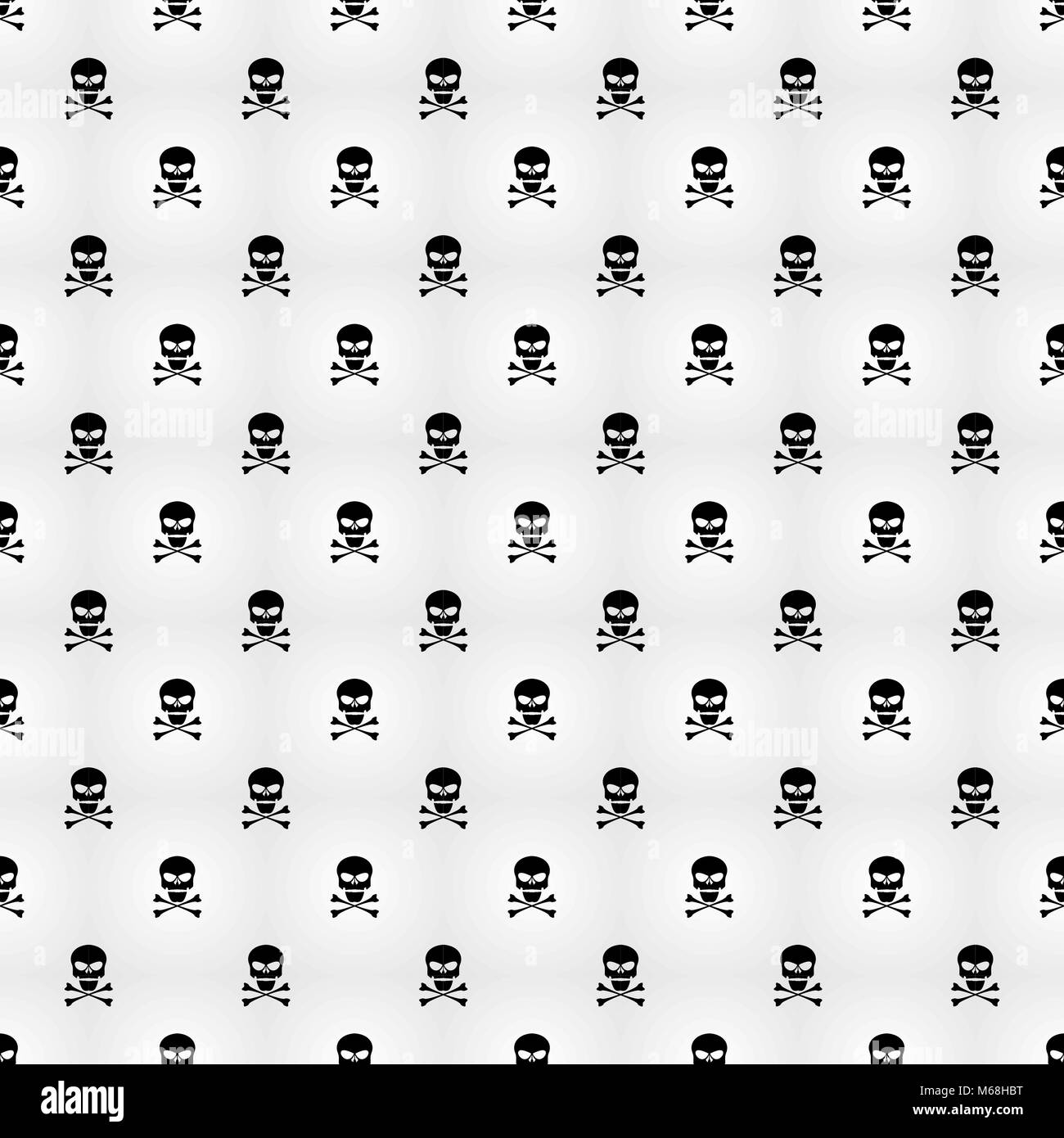 Abstract Background A Pattern On A White Background Of Black Skulls