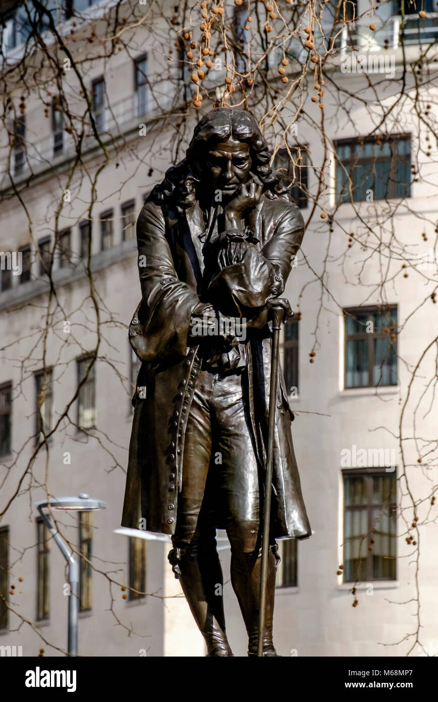Statue of contentious figure Edward Colston, merchant, benefactor andslave trader. Bristol city Center England UK Stock Photo