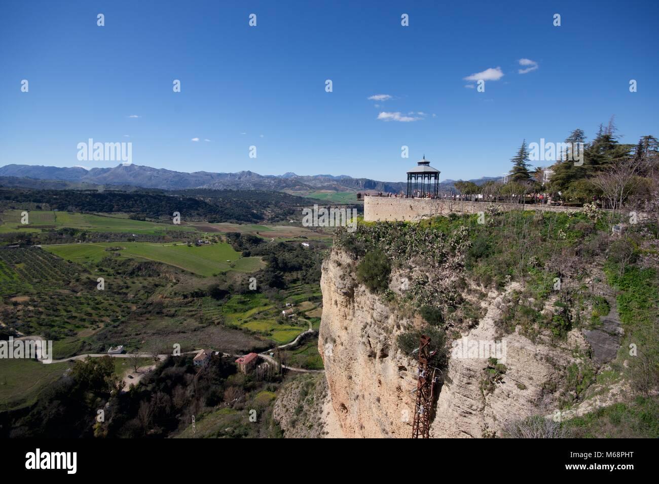 The Mirador de Ronda, famous viewpoint - Stock Image