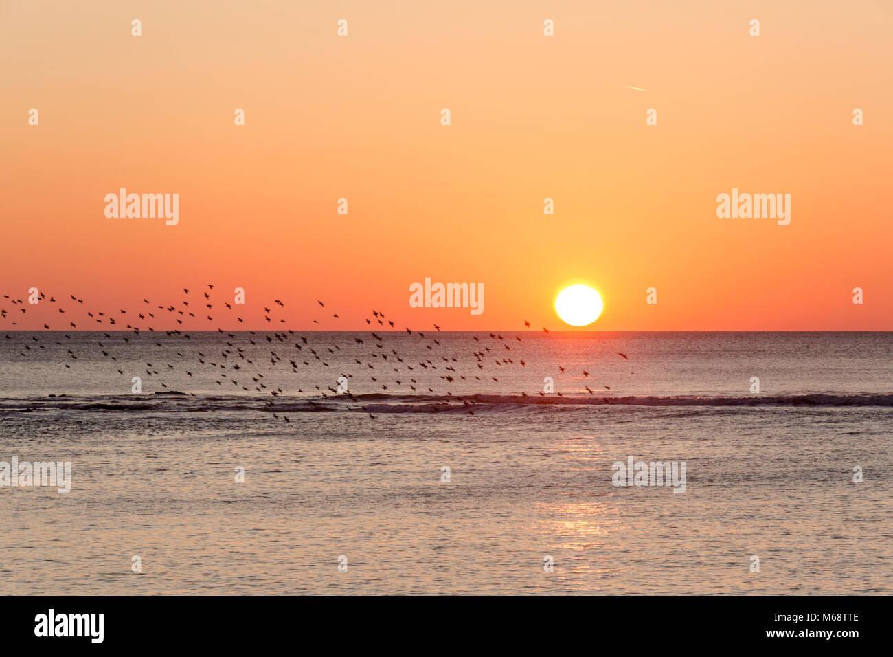 Sunset at Aberystwyth Stock Photo