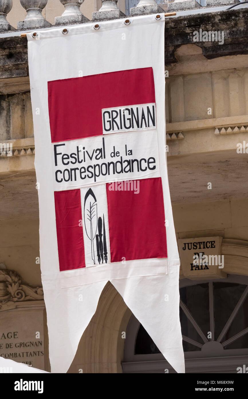 Festival of correspondence Grignan Nyons Drôme Auvergne-Rhône-Alpes France - Stock Image