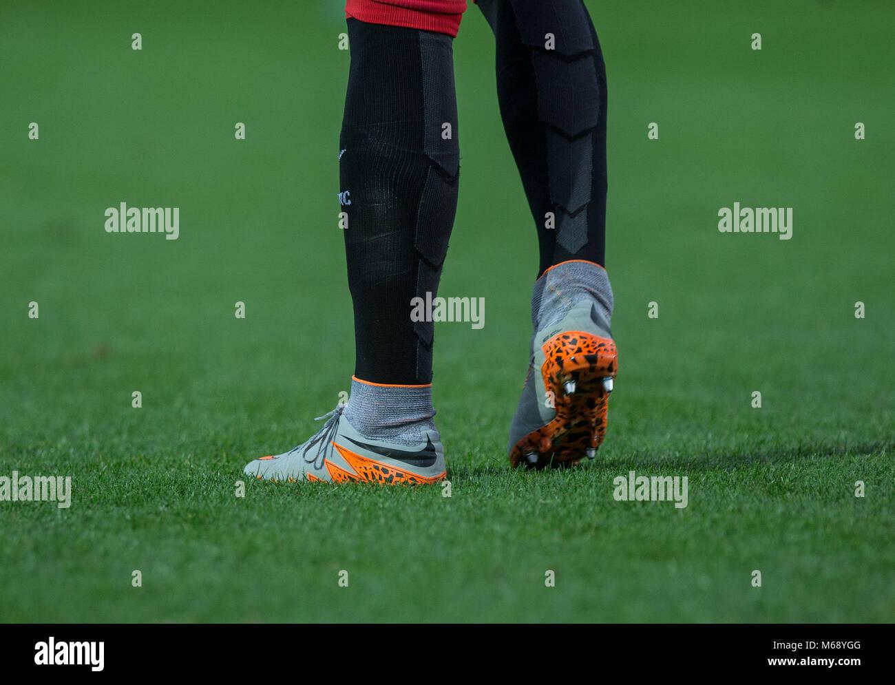 Gorka Guruzeta of Athletic Club Bilbao socks & boots during the U21 Premier League International Cup match between - Stock Image