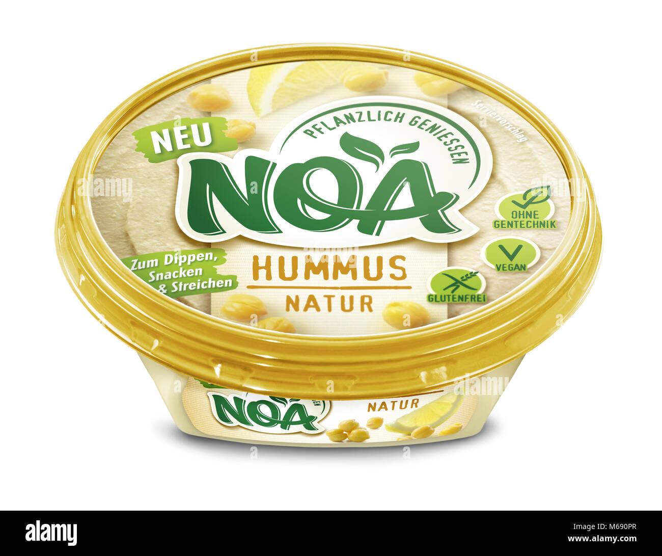 hummus natur - Stock Image
