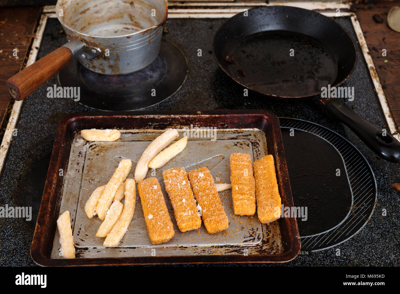 Dirty cooker - Stock Image