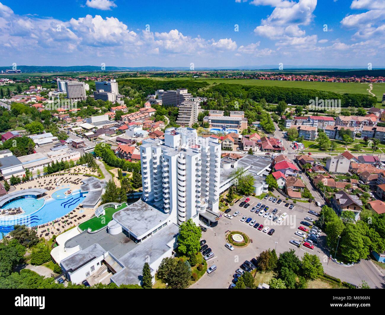 Aerial view of Felix Baths, Romania Medical Spas in Bihor Stock ...