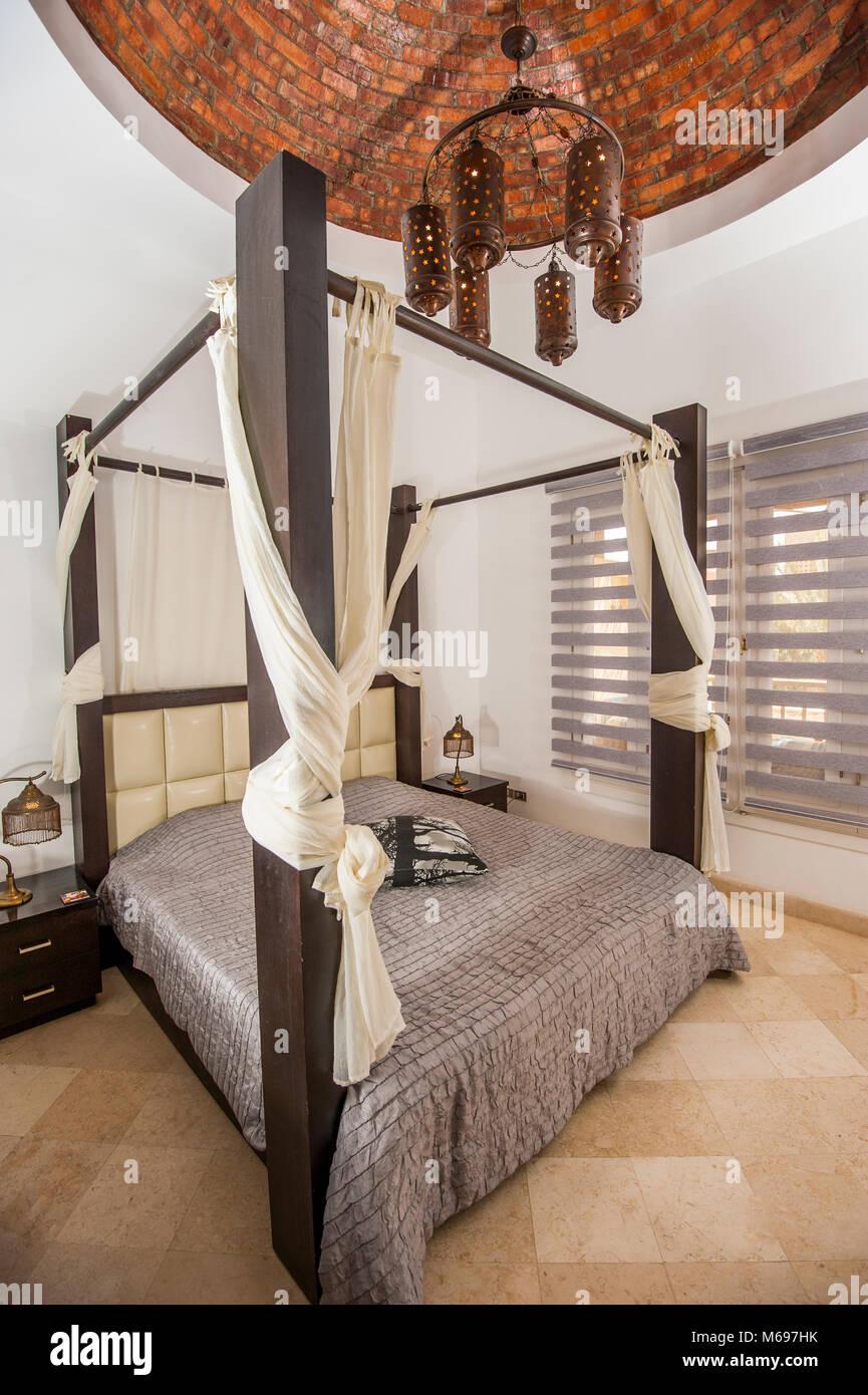 Interior design decor furnishing of luxury show home holiday villa ...