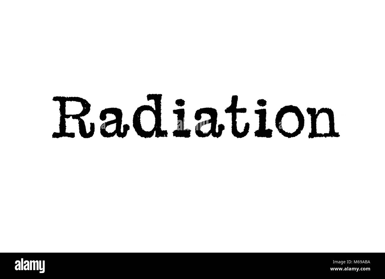 Alpha beta gamma stock photos alpha beta gamma stock images alamy the word radiation from a typewriter on a white background stock image biocorpaavc Choice Image