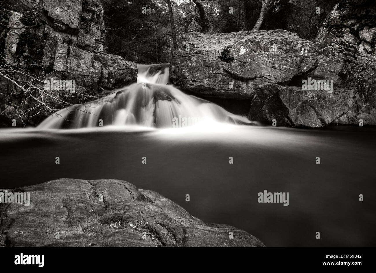 Hasan Boguldu Pond - Ida Mountains - Souture Waterfall - Stock Image