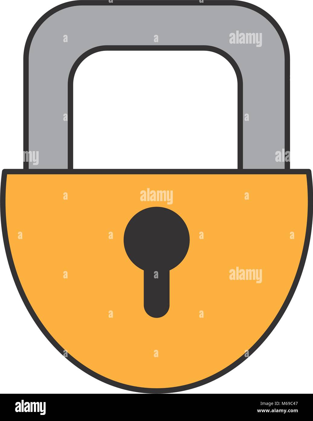 padlock security object to privacy access - Stock Vector