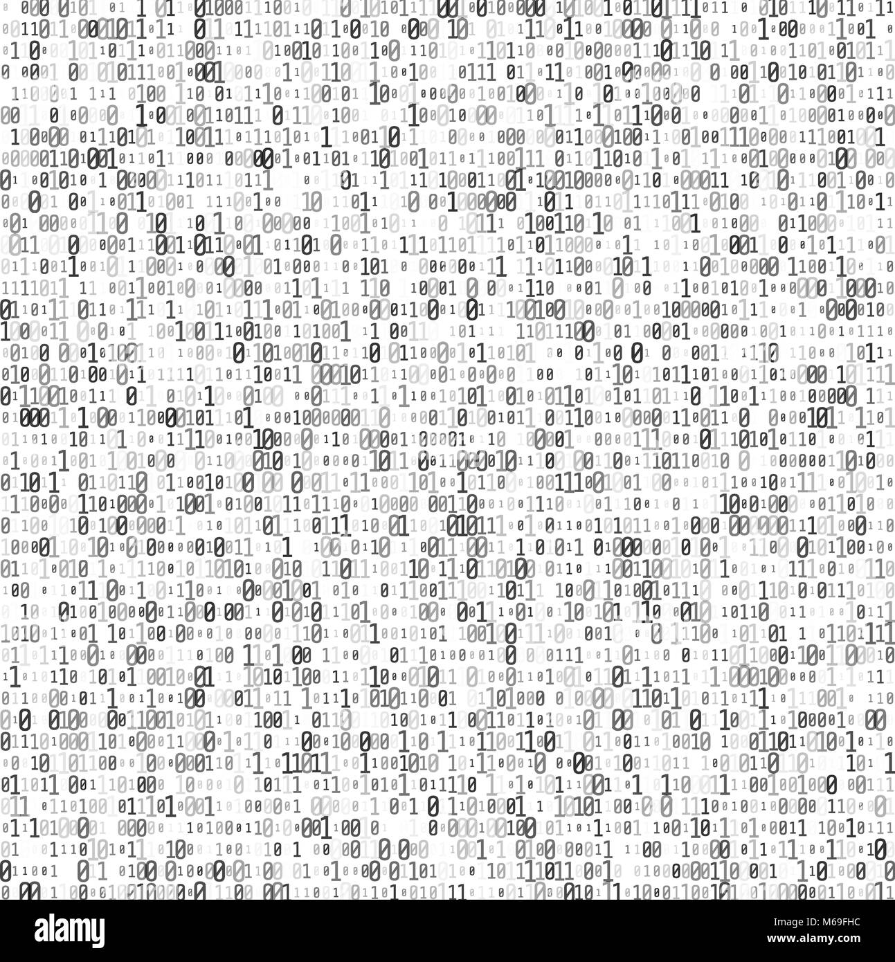 Abstract Matrix Background. Binary Computer Code. Coding and Hacker concept. Vector Illustration. - Stock Image