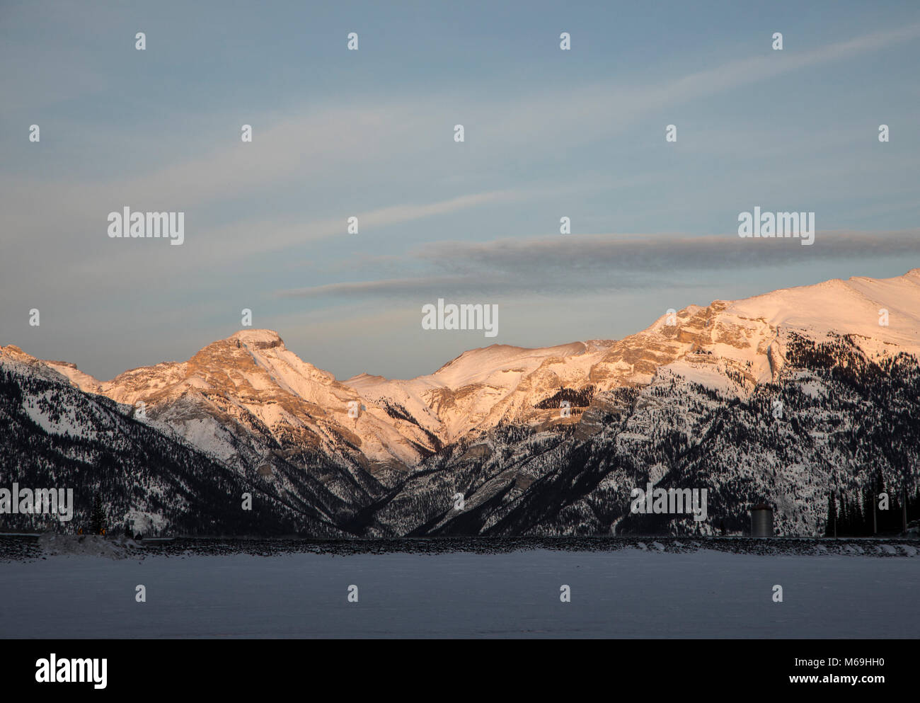 The Rocky Mountains near Canmore, Alberta. - Stock Image