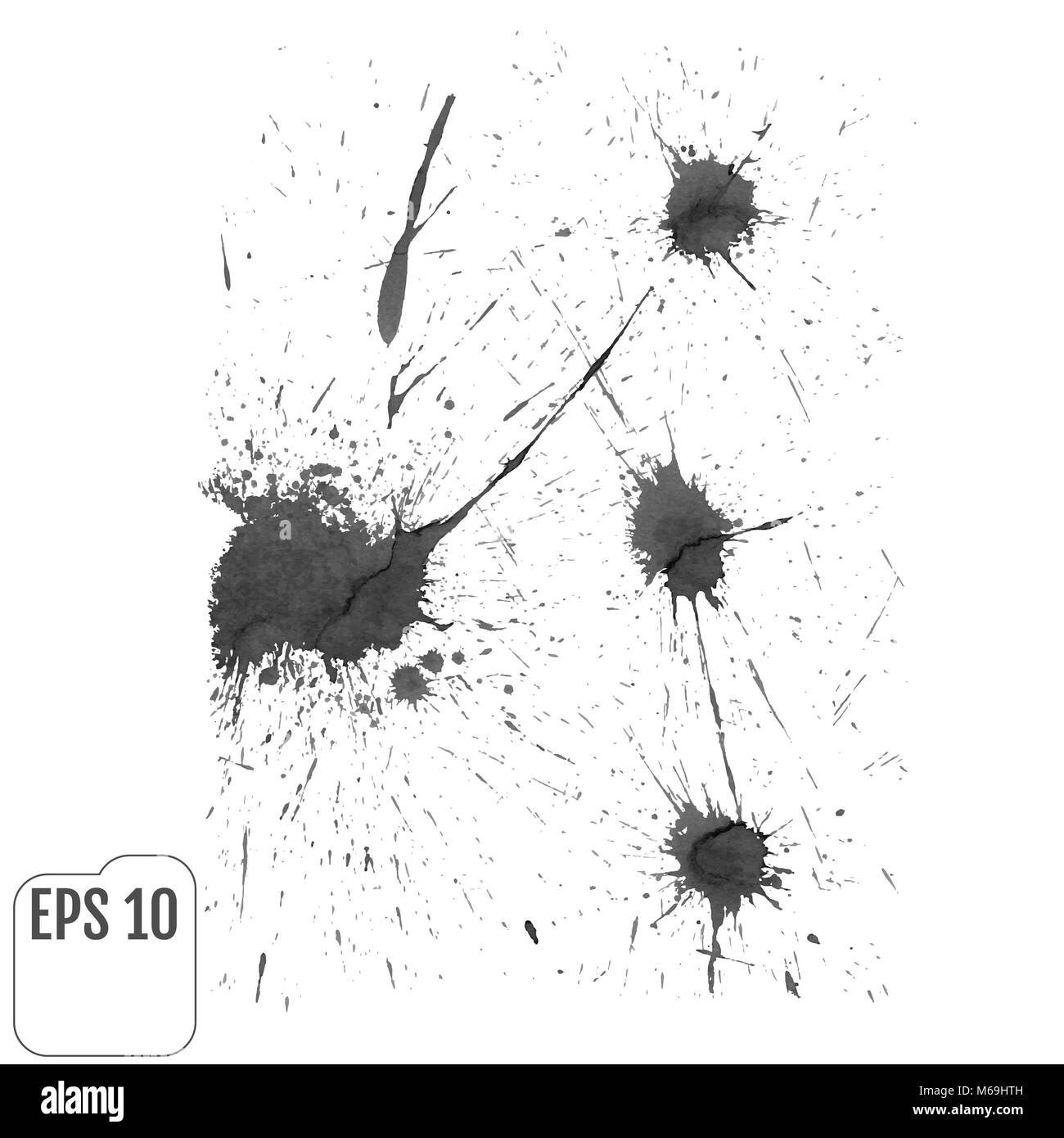 Abstract gray ink spot background  Vector illustration  Grunge Stock