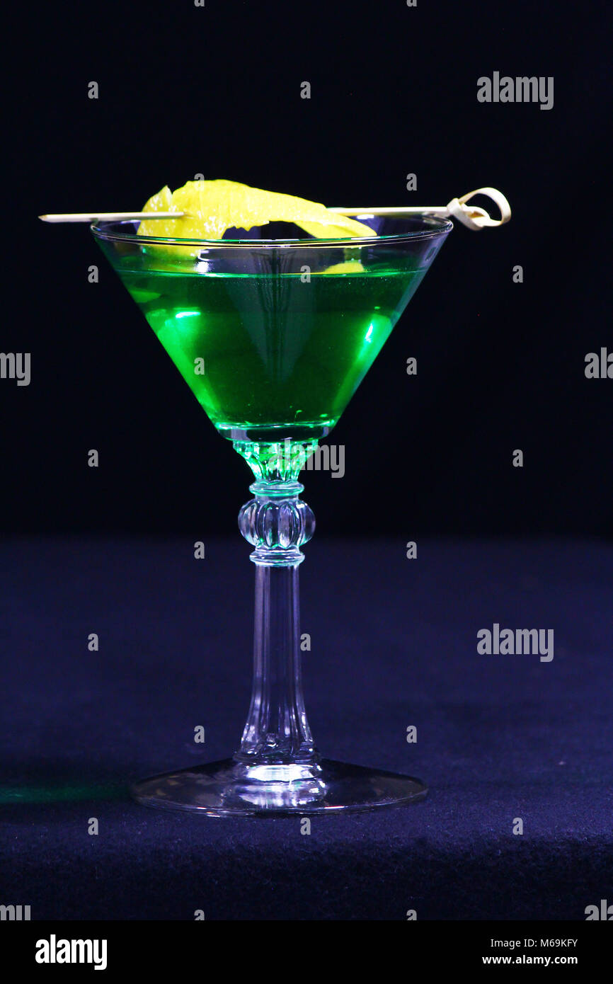 Green cocktails for St. Patricks Day - Stock Image