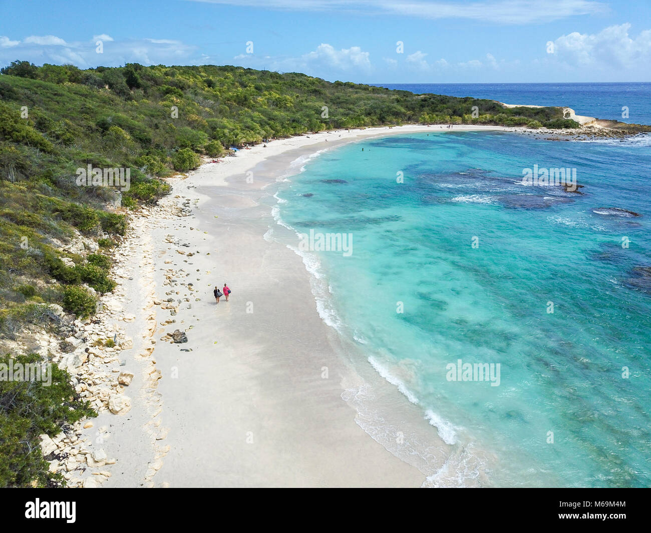 Half Moon Bay Beach, Antigua - Stock Image