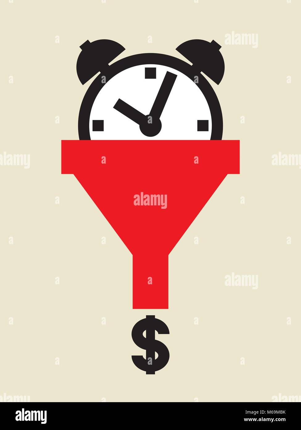 time is money,  but it is non-renewable resource - Stock Image
