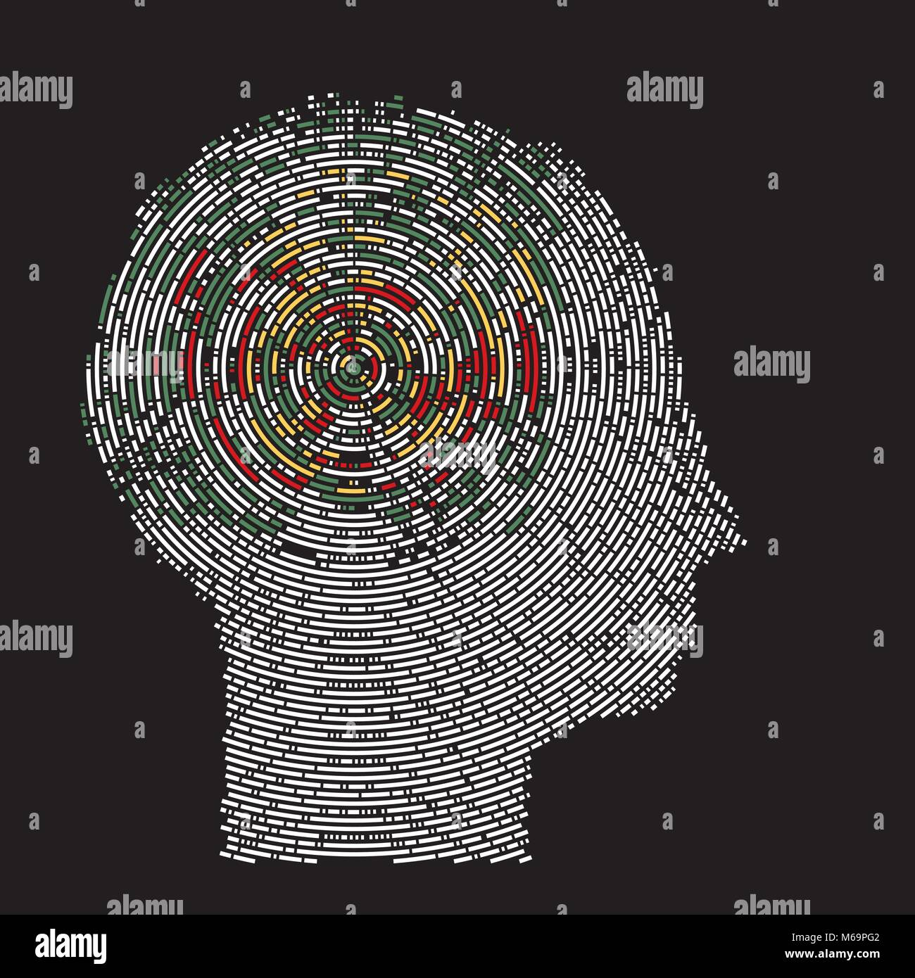 deep thoughts imaging  brain scan - Stock Image
